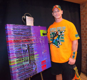 John Cena with 500th Wish Painting_040216 small