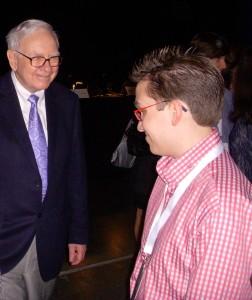Jeff Hanson and Warren Buffet - Famous Friends