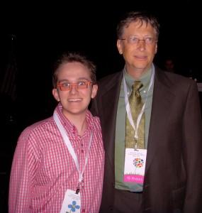 Jeff Hanson and Bill Gates - Famous Friends