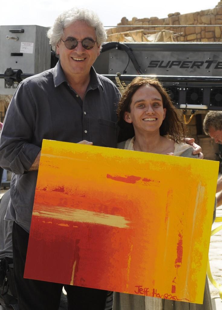 Jeff & Harold Ramis with Year Zero Painting