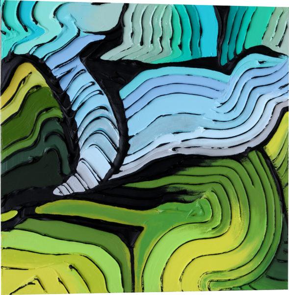 Travel to the Terraces 30 x 30 - Jeff Hanson Original Painting
