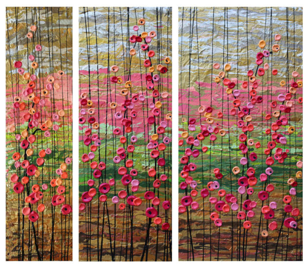 Jeff Hanson Art Sorrento in Spring Triptych Original Painting
